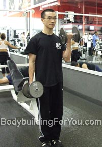 alternate dumbbell curl