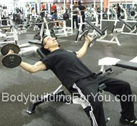incline dumbbell flies