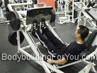 leg press machine calf raise